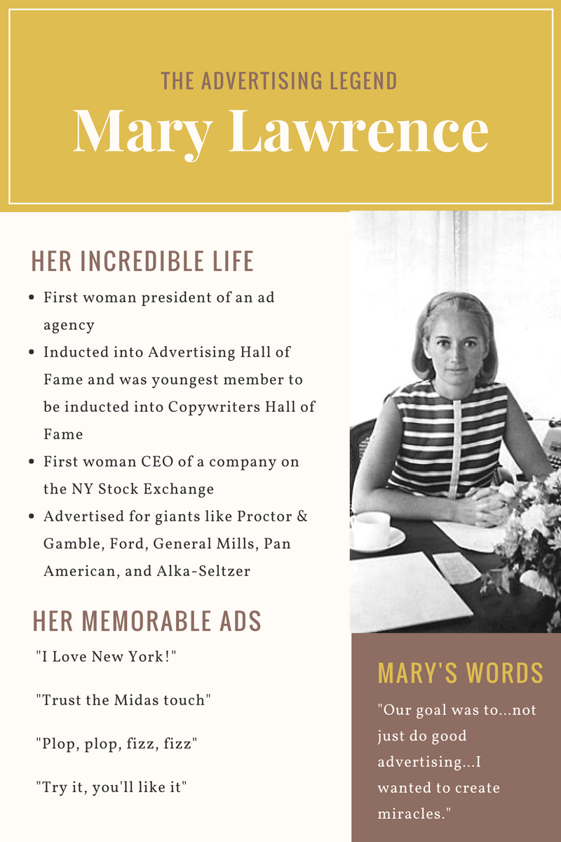 Advertising legend Mary Wells Lawrence