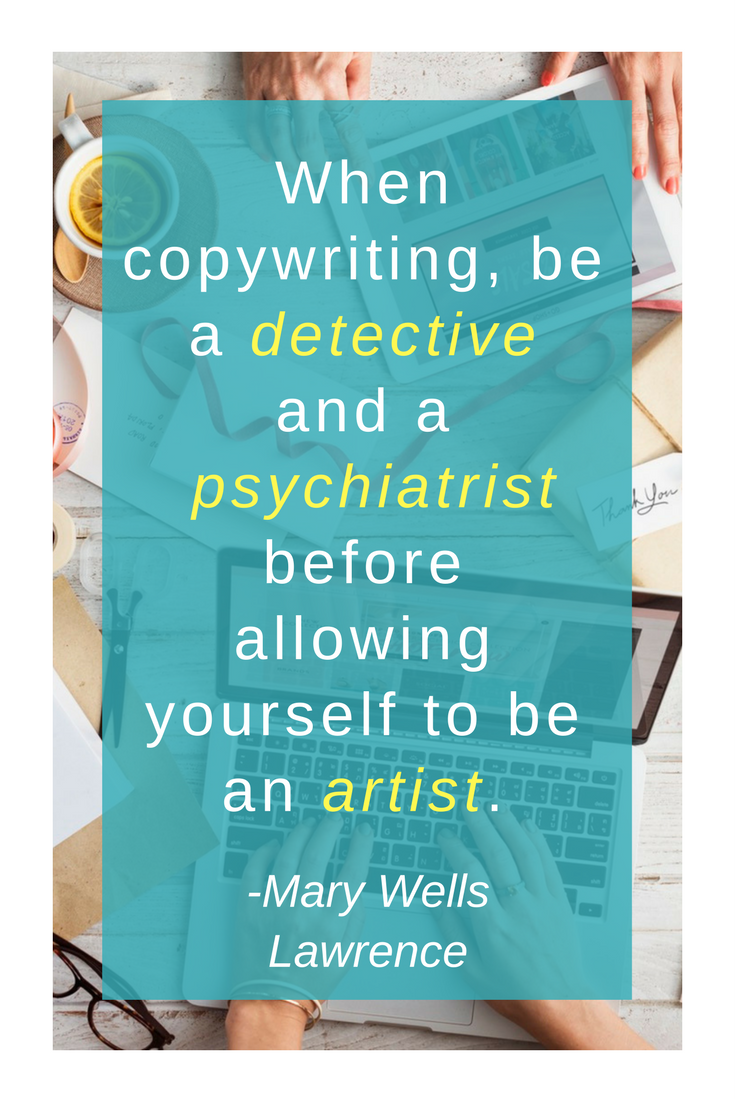 Copywriting tip by Mary Lawrence