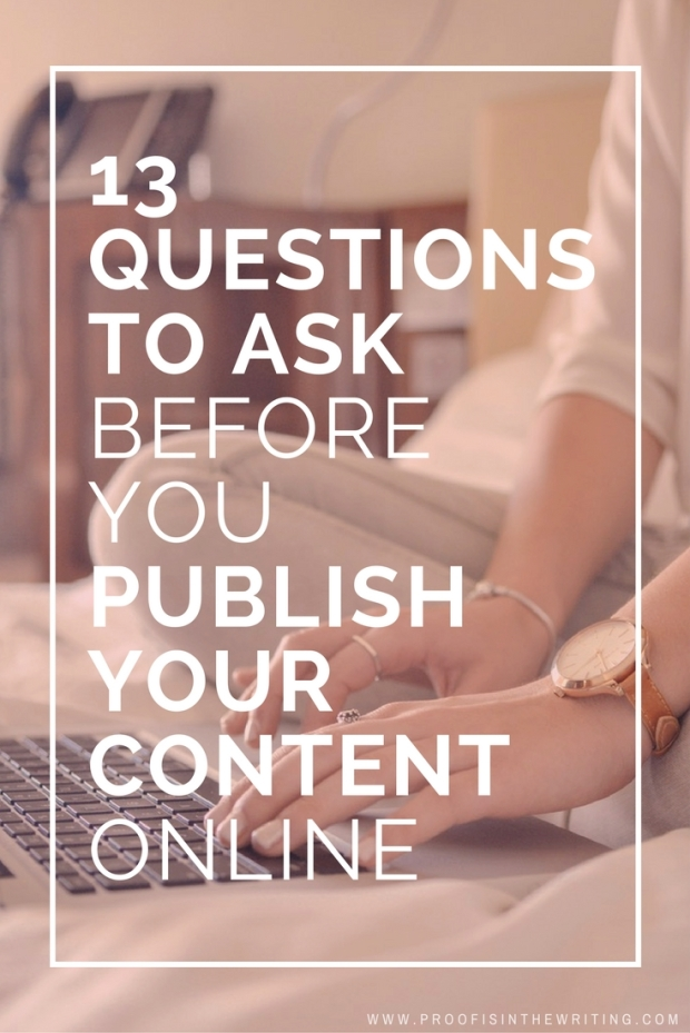 13 questions about SEO copywriting to ask yourself before you publish your content online. Click the image to learn what they are.
