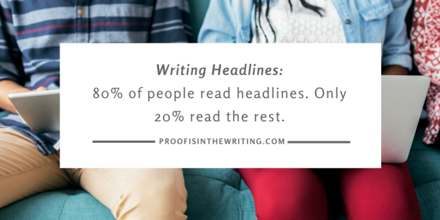 SEO Copywriting- Only 20% of people read past the headlines