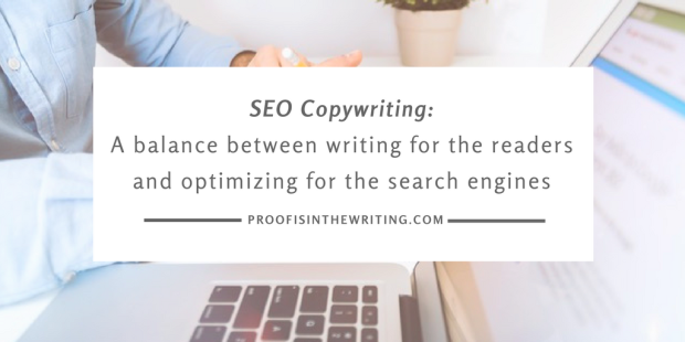 SEO copywriting is a balance between writing for the readers and optimizing for the search engines.