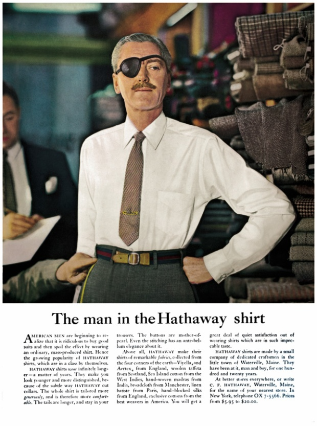"Famous Ogilvy ad ""The Man in the Hathaway Shirt"""