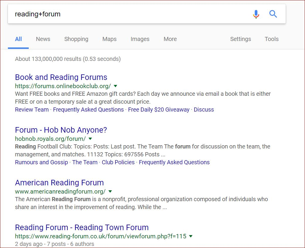 Find keywords and related words to use in forums.