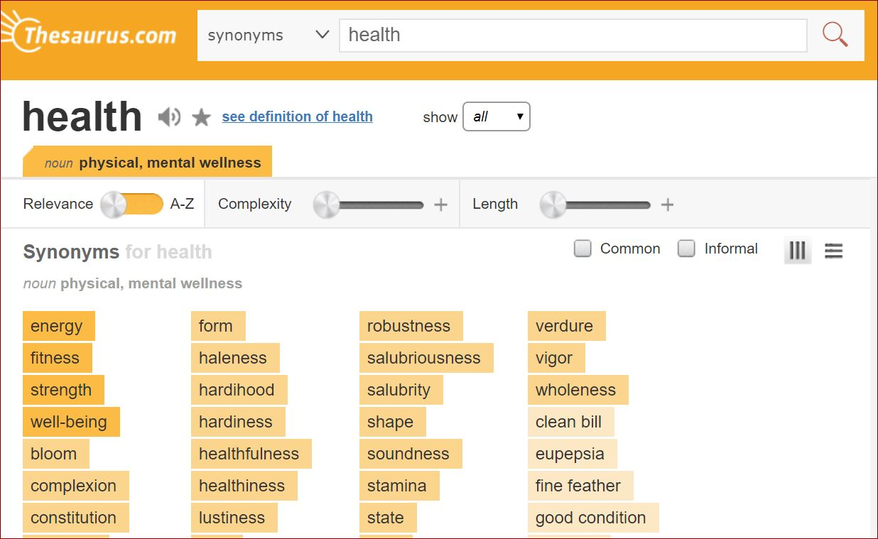 Find synonyms of your keywords with this tool.